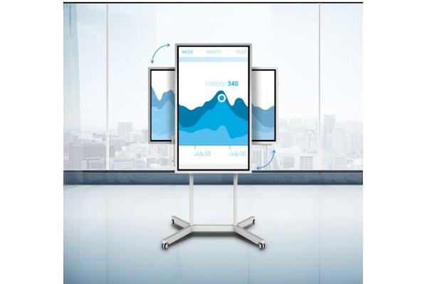 Samsung Flip WM55H Digitales Flipchart inkl. Flip Stand